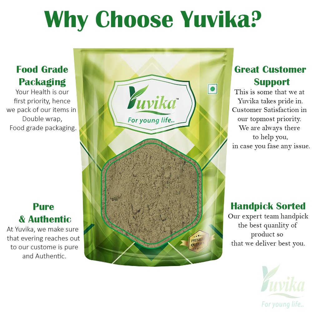 YUVIKA Neem Patta Powder - Azadirachta Indica - Neem Leaves