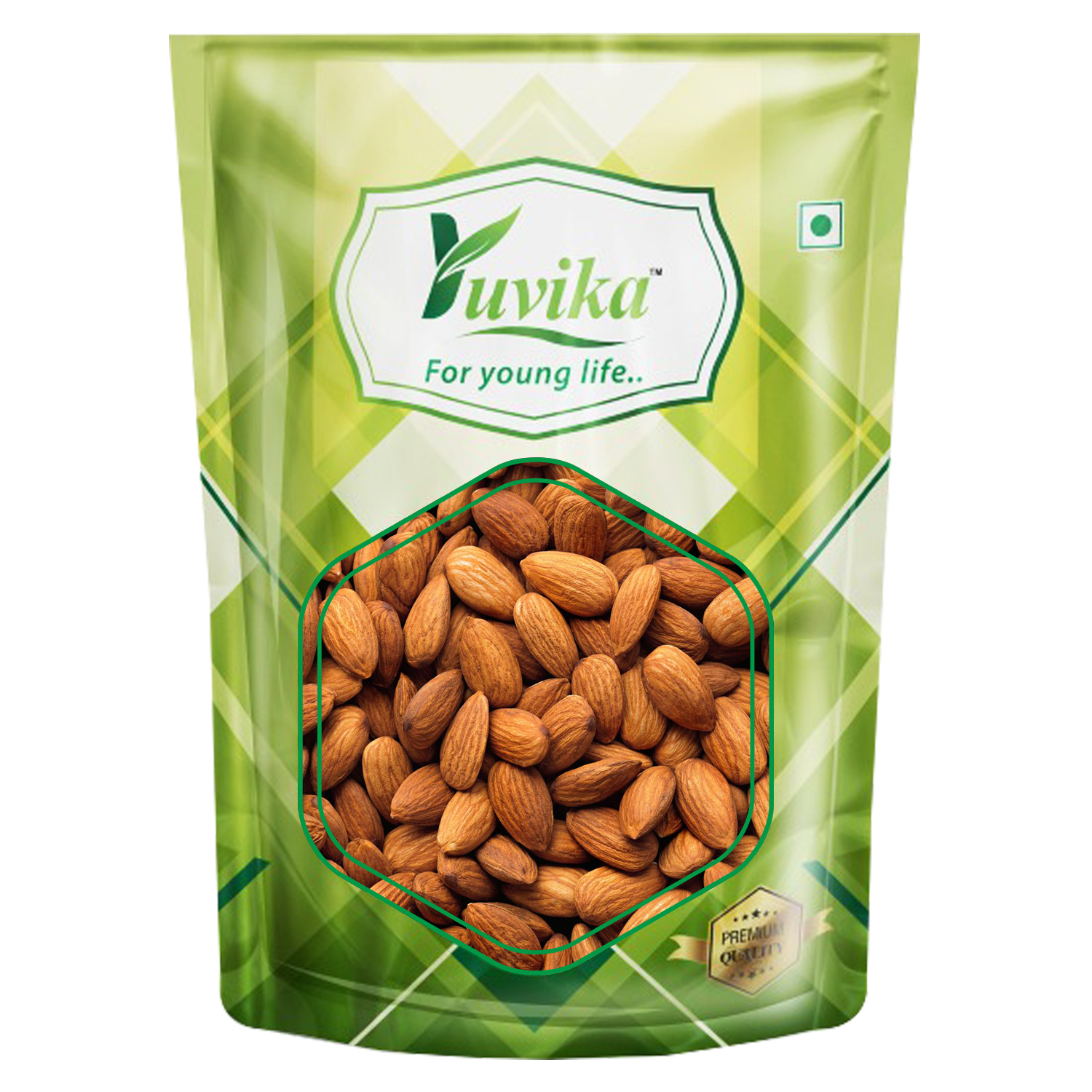 YUVIKA Premium Quality California Raw Almonds ( Badam)