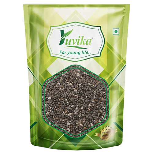 YUVIKA Raw Chia Seeds, Flax Seeds, Pumpkin Seeds and Sunflower Seeds 1Kg Combo Pack (Pack of 4) (250g Each)