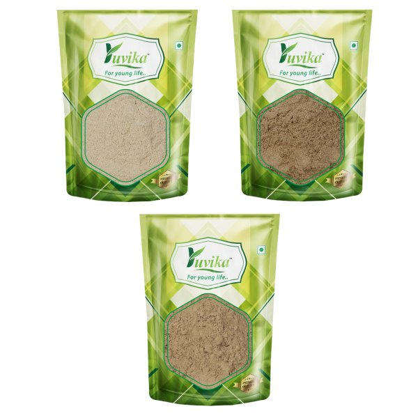 YUVIKA Immunity Booster Combo Ashwagandha Powder, Giloy Powder, Mulethi Powder (50 Grams Each) 150 Grams