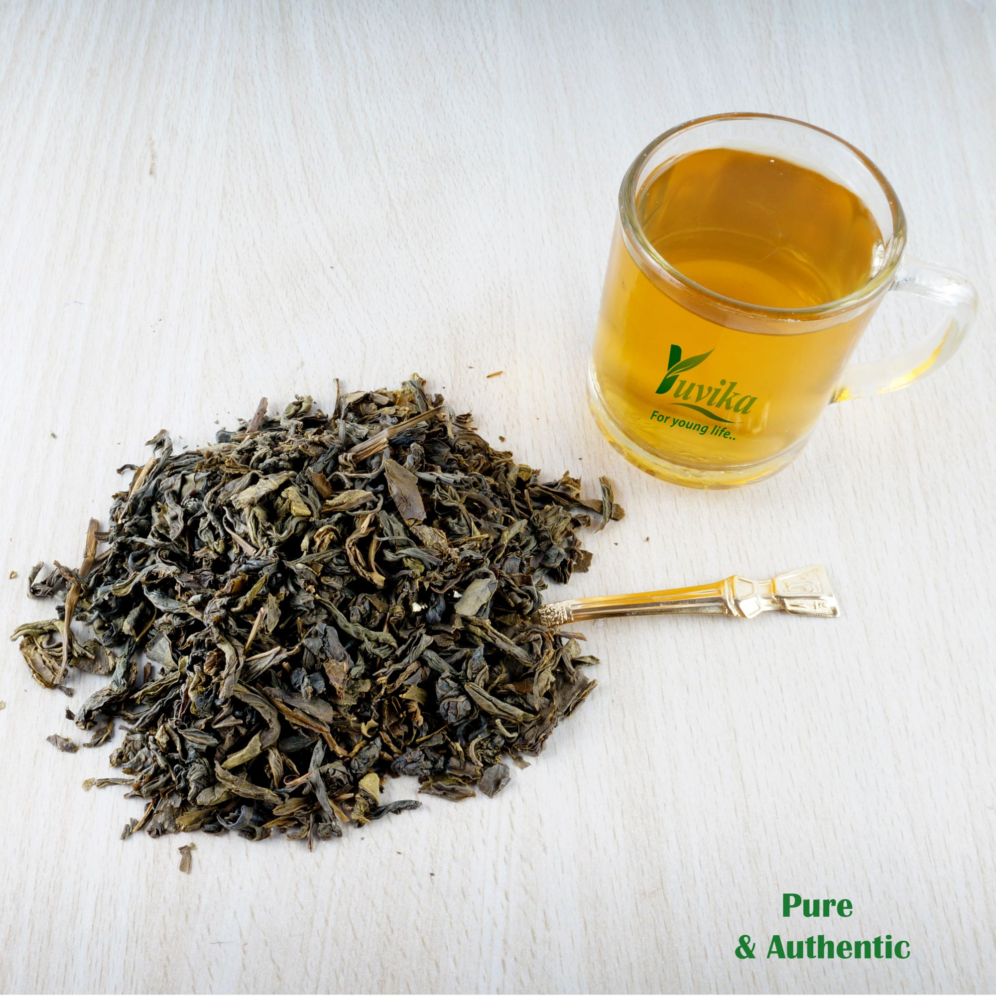 YUVIKA Green Tea Leaves Pure and Original