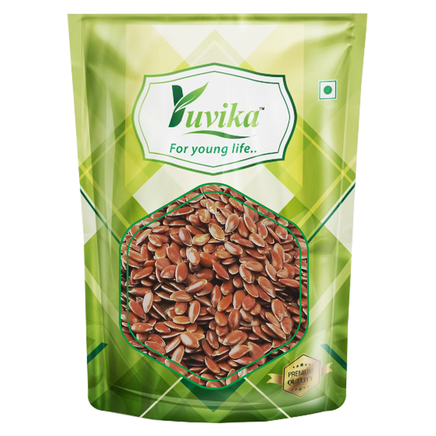 YUVIKA Foods Raw Flax Seeds, Pumpkin Seeds and Sunflower Seeds (150 g Each, 450 gm)-Combo Pack of 3