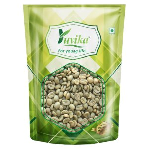 YUVIKA Green Coffee Beans Decaffeinated & Unroasted Arabica Coffee