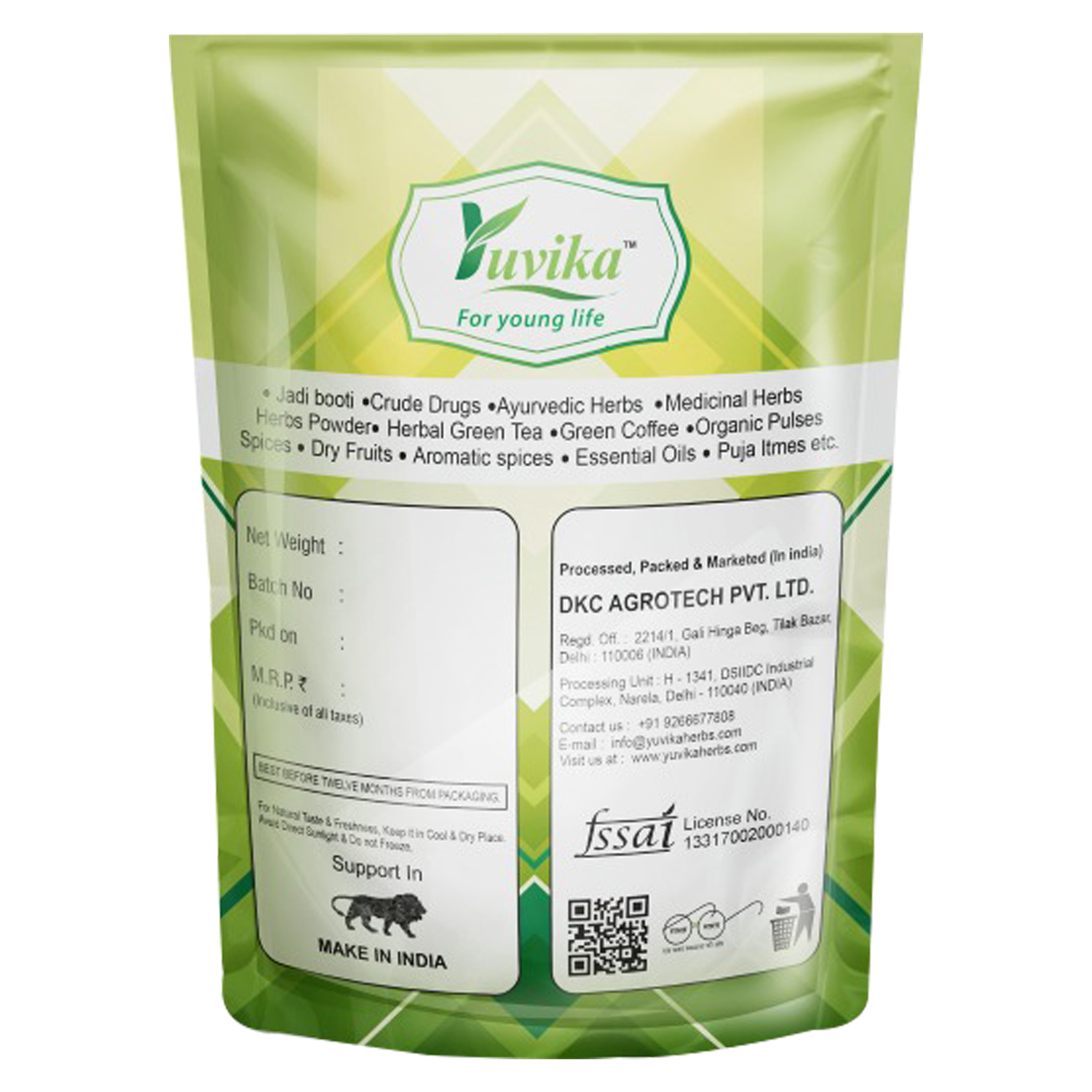YUVIKA Paneer Dodi Powder - Withania Coagulans